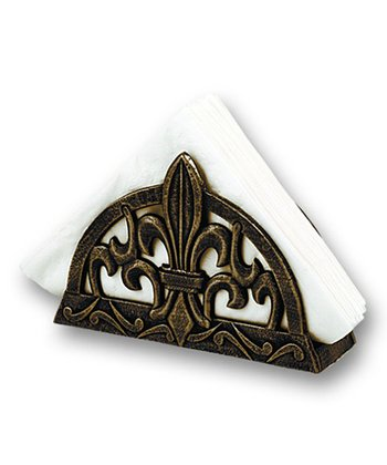 Antique Copper Cast Iron Fleur-de-Lis Napkin Holder