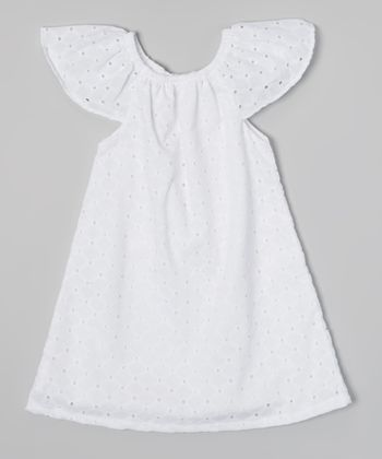 White Toes in the Sand Eyelet Dress - Toddler & Girls