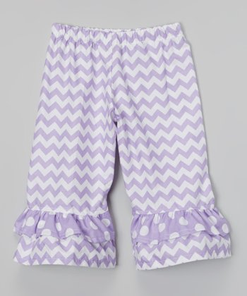 Lavender Spring Days Zigzag Capri Pants - Infant, Toddler & Girls
