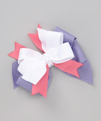 Purple & Pink Spring Days Bow Clip
