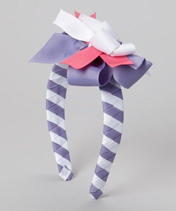 Purple & Pink Spring Days Bow Headband