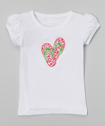 White Leopard Flip Flop Tee - Infant, Toddler & Girls