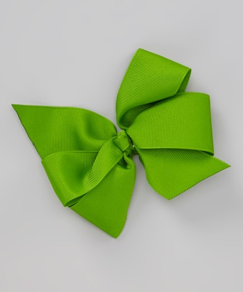 Green Wild For Summer Bow Clip
