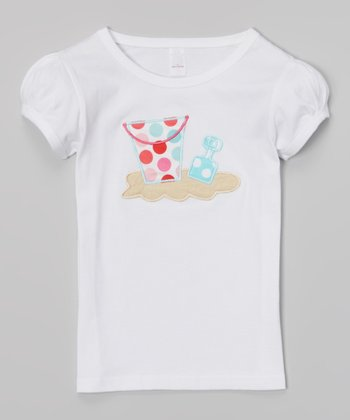 White Beach Bucket Tee - Infant, Toddler & Girls