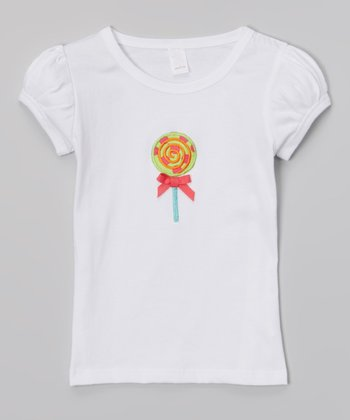 White Lollipop Tee - Infant, Toddler & Girls