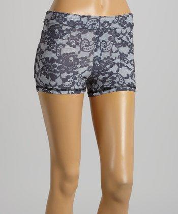 American Buddha by Yogi Lace Gray Active Shorts