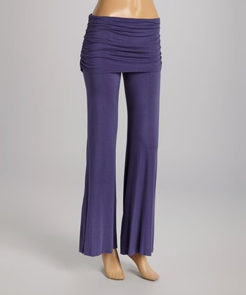 American Buddha by Yogi Dusk Fold-Over Yoga Pants