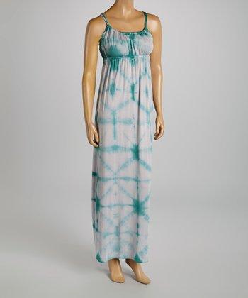 American Buddha by Yogi Teal Tie-Dye Maxi Dress