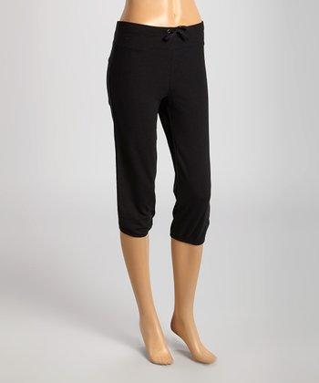 Black Cropped Sweatpants