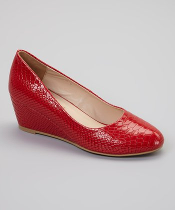 Dime City Red Venable Wedge Pump
