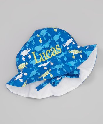 Sew Girlie Blue Crab Personalized Sun Hat