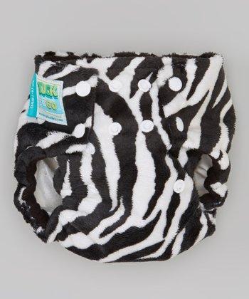 Monkey Doodlez Zebra Minky Tuck & Go Diaper Cover - Infant