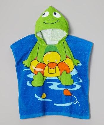 Vitamins Baby Green Frog Hooded Towel