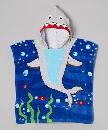 Vitamins Baby Gray Shark Hooded Towel
