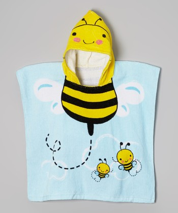 Vitamins Baby Yellow Bee Hooded Towel