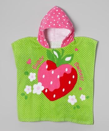 Vitamins Baby Pink & GreenSuper Sweet Hooded Towel