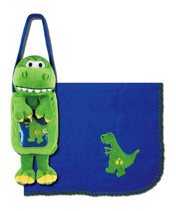 Green Dino Blankie Buddy Tote & Receiving Blanket