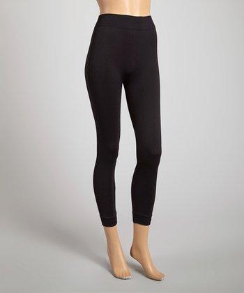 Black Color Wise Capri Leggings