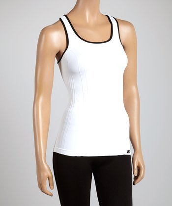 White Color Wise Racerback Tank
