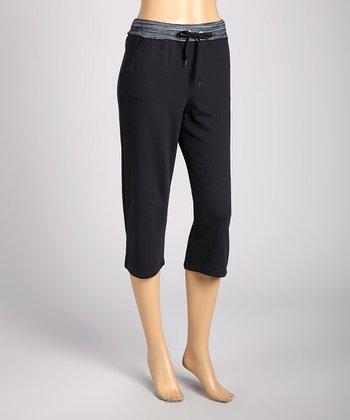 Silverwear Black Lounge Bermuda Shorts