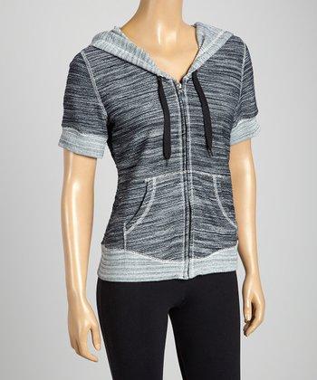 Silverwear Black Zip-Up Hoodie