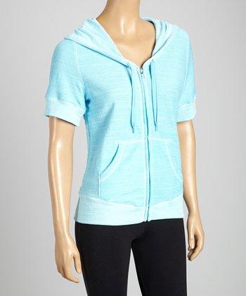 Silverwear Blue Zip-Up Hoodie