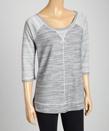 Silverwear Gray Scoop Neck Top
