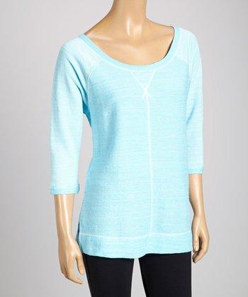 Silverwear Blue Scoop Neck Top