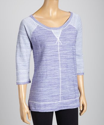 Silverwear Purple Scoop Neck Top