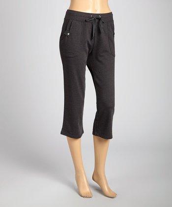 Silverwear Charcoal Drawstring Capri Pants