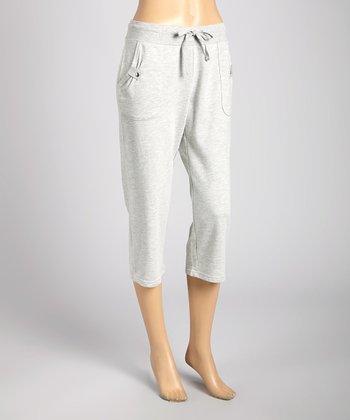 Silverwear Gray Drawstring Capri Pants