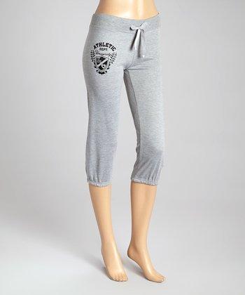 Heather Gray French Terry Capri Lounge Pants