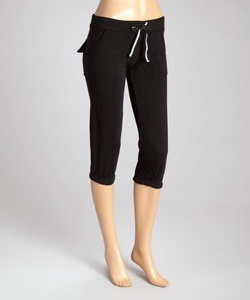 Black Fleece Capri Lounge Pants