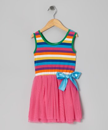 Hot Pink Chiffon Dress - Toddler & Girls