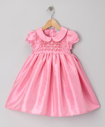 Baby Pink Rosette Dress - Toddler