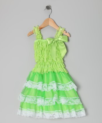 Lime Ruffle Dress - Infant, Toddler & Girls
