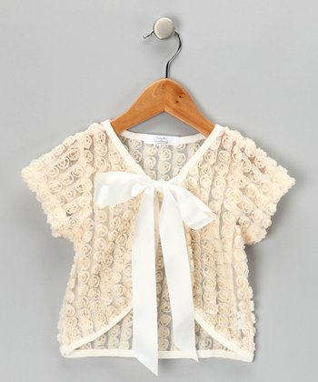 Cream Rose Shrug - Toddler