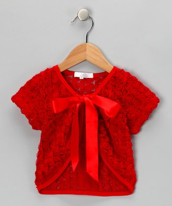 Red Rose Shrug - Toddler