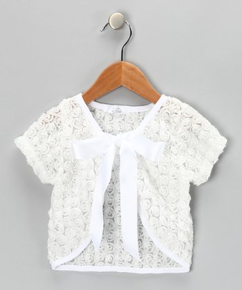 White Rose Shrug - Toddler
