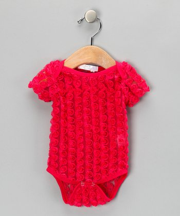 Dark Pink Rosette Bodysuit - Infant