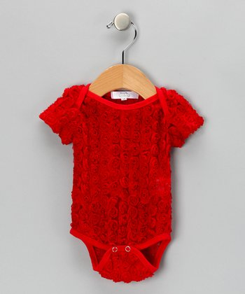 Red Rosette Bodysuit - Infant