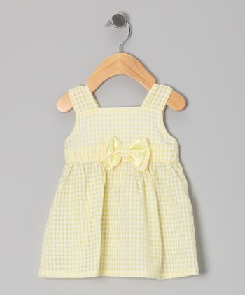 Yellow Gingham A-Line Dress - Infant