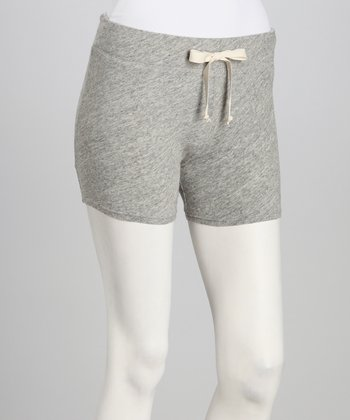 Heather Gray Drawstring Shorts - Women