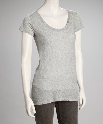 Heather Gray Scoop Neck Top