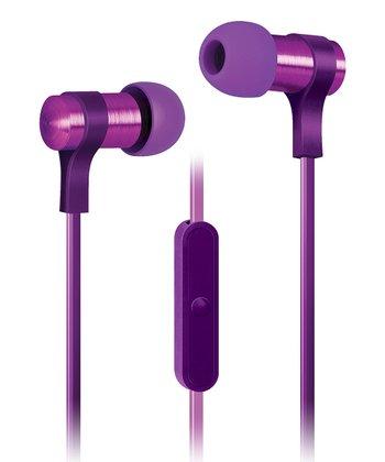 Purple Strike Microphone Earbuds