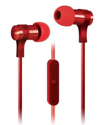 Red Strike Microphone Earbuds