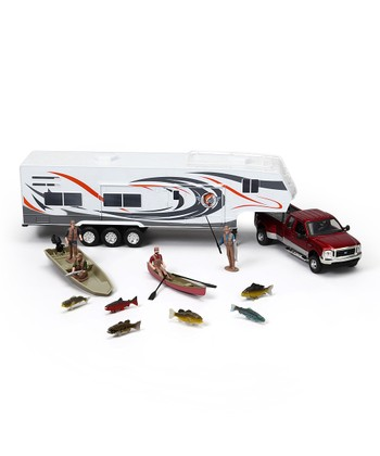 Pickup Truck & Fishing Camper Set