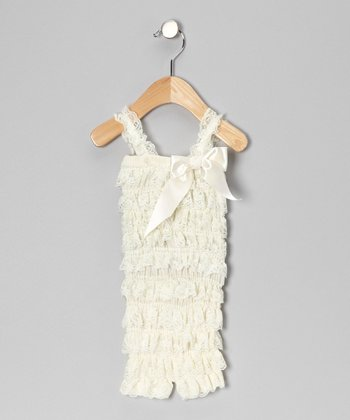 Ivory Ruffle Romper - Infant & Toddler