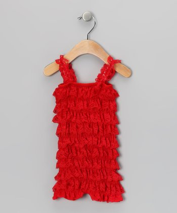 Red Ruffle Romper - Infant