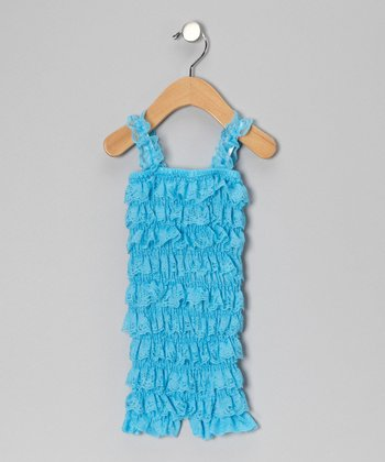 Turquoise Ruffle Romper - Infant & Toddler